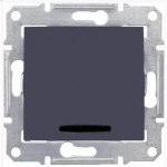 SDN1400170 Одноклавишный выключатель с подсветкой 10A серии Sedna. Цвет Графит