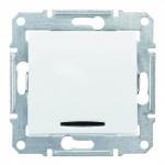 SDN1600121 Кнопка с подсветкой Sedna. Цвет Белый
