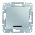 SDN1600160 Кнопка с подсветкой Sedna. Цвет Алюминий
