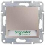 SDN1600368 Кнопочный выключатель с подсветкой и держателем для надписи 10A серии Sedna. Цвет Титан