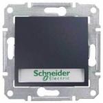 SDN1600370 Кнопочный выключатель с подсветкой и держателем для надписи 10A серии Sedna. Цвет Графит