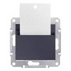 Карточный выключатель 10A серии Sedna. Цвет Графит (SDN1900170)