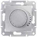 SDN2200560 Светорегулятор поворотно-нажимной проходной 60-500 Вт/ВА серии Sedna. Цвет Алюминий