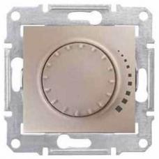 Светорегулятор поворотно-нажимной проходной 60-500 Вт/ВА серии Sedna. Цвет Титан (SDN2200568)