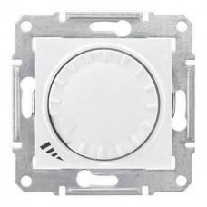 Светорегулятор поворотно-нажимной индуктивный 1000 ВА серии Sedna. Цвет Белый (SDN2200921)