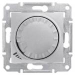 SDN2200960 Светорегулятор поворотно-нажимной индуктивный 1000 ВА серии Sedna. Цвет Алюминий