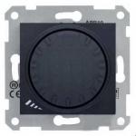 SDN2200970 Світлорегулятор поворотно-натискний індуктивний 1000 ВА серії Sedna. Колір Графіт