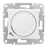 """SDN2201121 Діммер універсальний поворотно-натискний Sedna. Колір """"Білий"""""""
