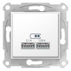 "USB-розетка Sedna 2.1 A (2 входа), цвет ""Белый"" (SDN2710221)"