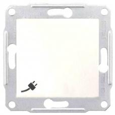Розетка с заземлением, защитными шторками и крышкой 16А, 250 В Sedna. Цвет Белый (SDN3100121)