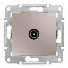 Розетка TV концевая 1 dB Sedna. Цвет Титан (SDN3201668)