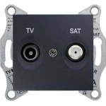 SDN3401270 Розетка ТV/SAT проходная 8 dB Sedna. Цвет Графит