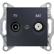 Розетка ТV/SAT проходная 8 dB Sedna. Цвет Графит (SDN3401270)