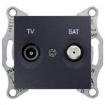 SDN3401670 Розетка ТV/SAT кінцева 1 dB Sedna. Колір Графіт