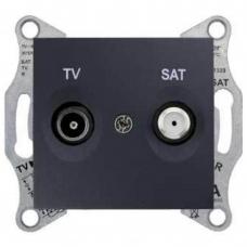 Розетка ТV/SAT концевая 1 dB Sedna. Цвет Графит (SDN3401670)