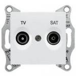 SDN3401221 Розетка ТV/SAT проходная 8 dB Sedna. Цвет Белый