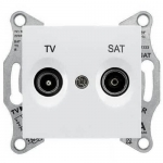 SDN3401921 Розетка ТV/SAT проходная 4 dB Sedna. Цвет Белый