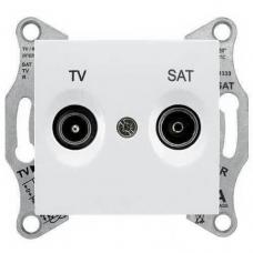 Розетка ТV/SAT проходная 8 dB Sedna. Цвет Белый (SDN3401221)