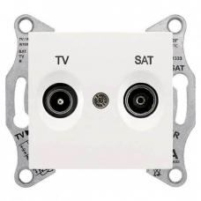 Розетка ТV/SAT проходная 8 dB Sedna. Цвет Слоновая кость (SDN3401223)