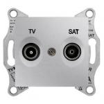SDN3401960 Розетка ТV/SAT проходная 4 dB Sedna. Цвет Алюминий