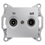 SDN3401660 Розетка ТV/SAT концевая 1 dB Sedna. Цвет Алюминий
