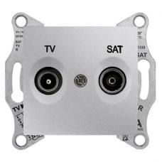 Розетка ТV/SAT концевая 1 dB Sedna. Цвет Алюминий (SDN3401660)