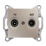 SDN3401668 Розетка ТV/SAT концевая 1 dB Sedna. Цвет Титан