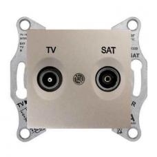 Розетка ТV/SAT концевая 1 dB Sedna. Цвет Титан (SDN3401668)