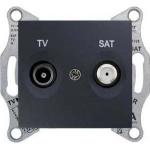 SDN3401970 Розетка ТV/SAT проходная 4 dB Sedna. Цвет Графит