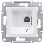 SDN4101121 Телефонная розетка RJ11 Sedna. Цвет Белый