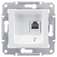 Телефонная розетка RJ11 Sedna. Цвет Белый (SDN4101121)