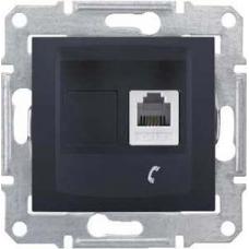 Телефонная розетка RJ11 Sedna. Цвет Графит (SDN4101170)