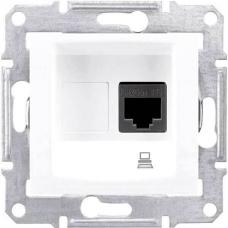 Компьютерная розетка UTP RJ45 кат.6e неэкранированная Sedna. Цвет Белый (SDN4700121)