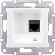 Компьютерная розетка STP RJ45 кат.6e экранированная Sedna. Цвет Слоновая кость (SDN4900123)
