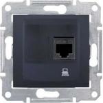 SDN4300170 Компьютерная розетка UTP RJ45 кат.5e неэкранированная Sedna. Цвет Графит