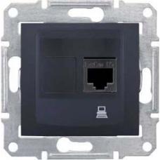 Компьютерная розетка UTP RJ45 кат.5e неэкранированная Sedna. Цвет Графит (SDN4300170)