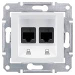 SDN5000121 Компьютерная розетка двойная STP RJ45 кат.6 экранированная Sedna. Цвет Белый