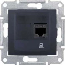 Компьютерная розетка STP RJ45 кат.5e экранированная Sedna. Цвет Графит (SDN4500170)