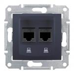 SDN4800170 Компьютерная розетка UTP RJ45 кат.6e неэкранированная Sedna. Цвет Графит