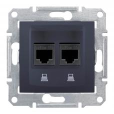 Компьютерная розетка UTP RJ45 кат.6e неэкранированная Sedna. Цвет Графит (SDN4800170)
