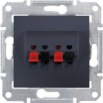 SDN5400170 Аудиорозетка двойная Sedna. Цвет Графит