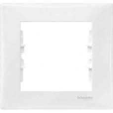 Декоративная рамка 1-постовая Sedna. Цвет Белый (SDN5800121)