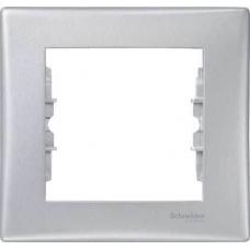 Декоративная рамка 1-постовая Sedna. Цвет Алюминий (SDN5800160)