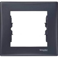Декоративная рамка 1-постовая Sedna. Цвет Графит (SDN5800170)