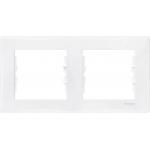 SDN5800321 Декоративная рамка 2-постовая горизонтальная Sedna. Цвет Белый