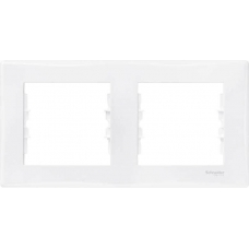Декоративная рамка 2-постовая горизонтальная Sedna. Цвет Белый (SDN5800321)
