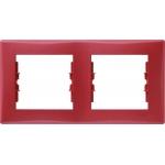 SDN5800341 Декоративная рамка 2-постовая горизонтальная Sedna. Цвет Красный