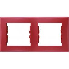 Декоративная рамка 2-постовая горизонтальная Sedna. Цвет Красный (SDN5800341)