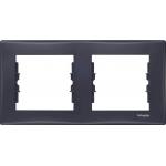 SDN5800370 Декоративная рамка 2-постовая горизонтальная Sedna. Цвет Графит