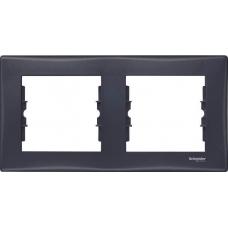 Декоративная рамка 2-постовая горизонтальная Sedna. Цвет Графит (SDN5800370)